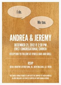 Andrea & Jeremy's Wedding Invitations