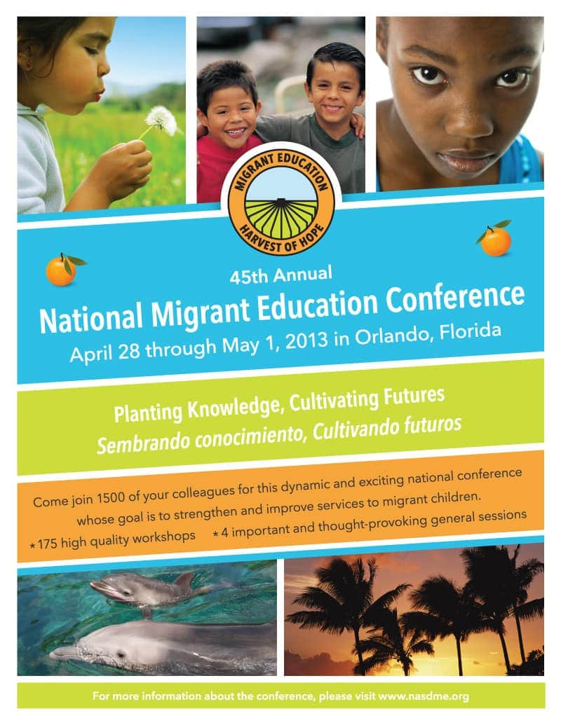 Graphci Design - National Migrant Education Conference - Schedule, Brochure, & Program
