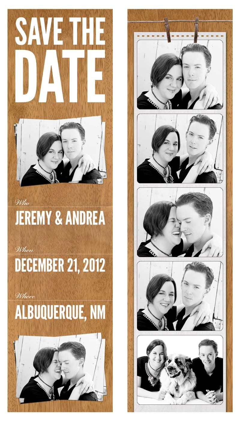 A Friend's Wedding - Save The Date Bookmarks