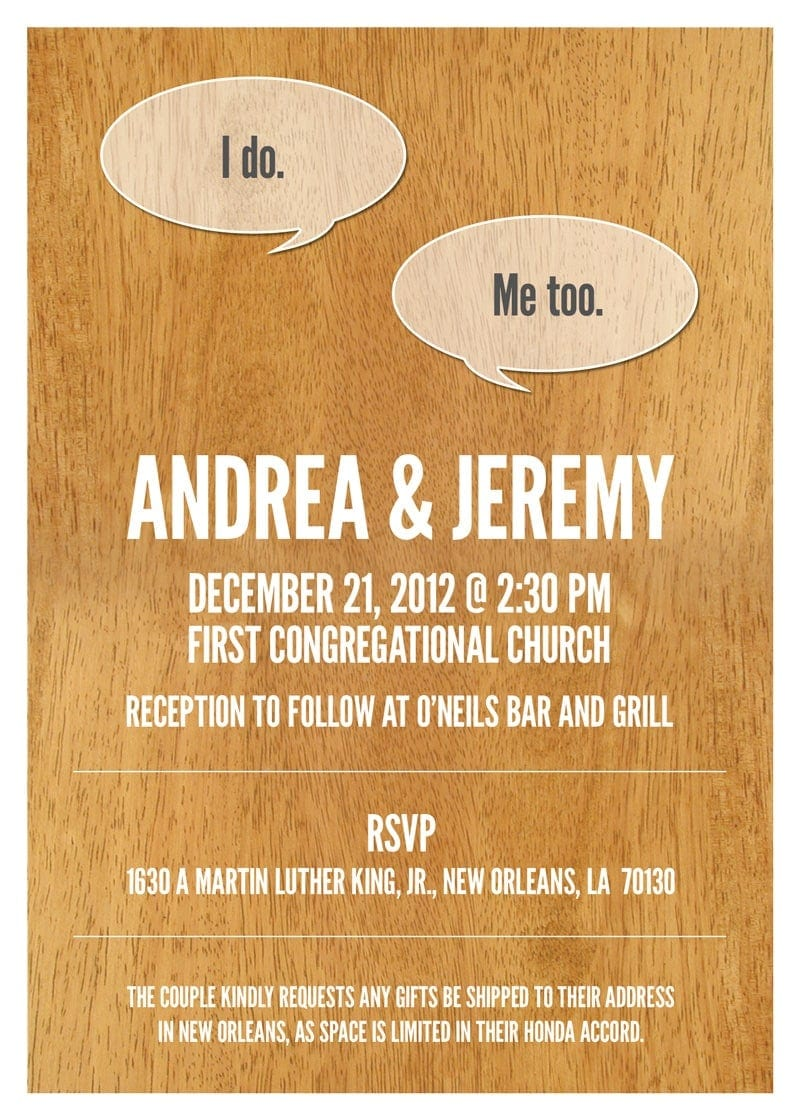 A Friend's Wedding - Invitations