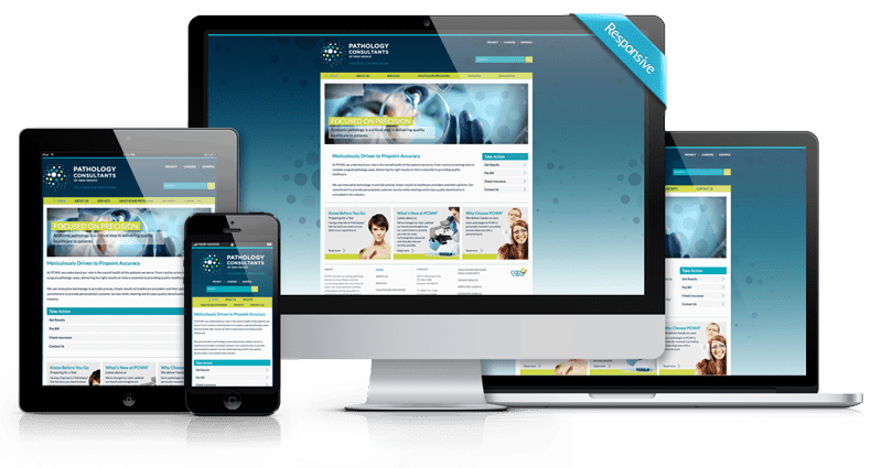 Custom, Responsive Website Design & Development - Pathology Consultants of New Mexico - Responsive
