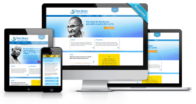Custom Website Development - New Mexico Human Rights Projects - Responsive