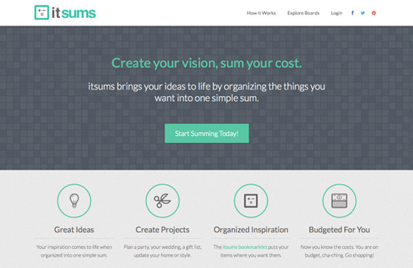 itsums - Create your vision, sum your cost.