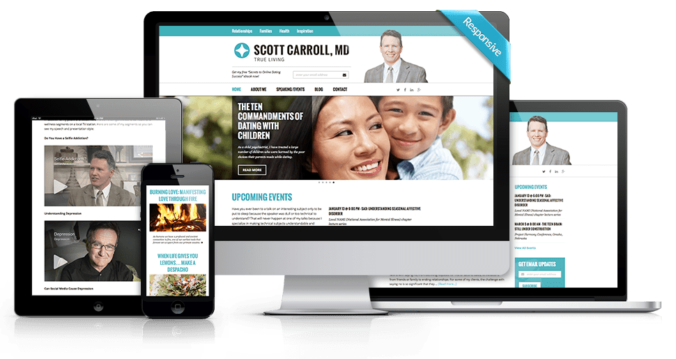 Scott Carroll M.D. - Custom Website Design & WordPress Development