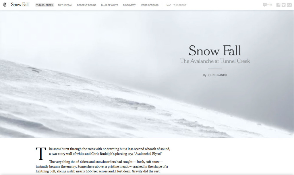 Web Design Trends 2015 - Story Telling Content