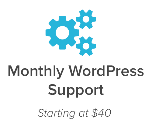 Monthly WordPress Support