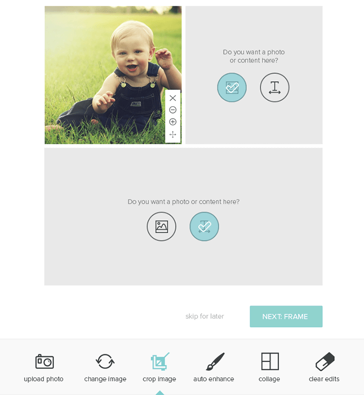 BabyPage: Step 1: Upload Photos