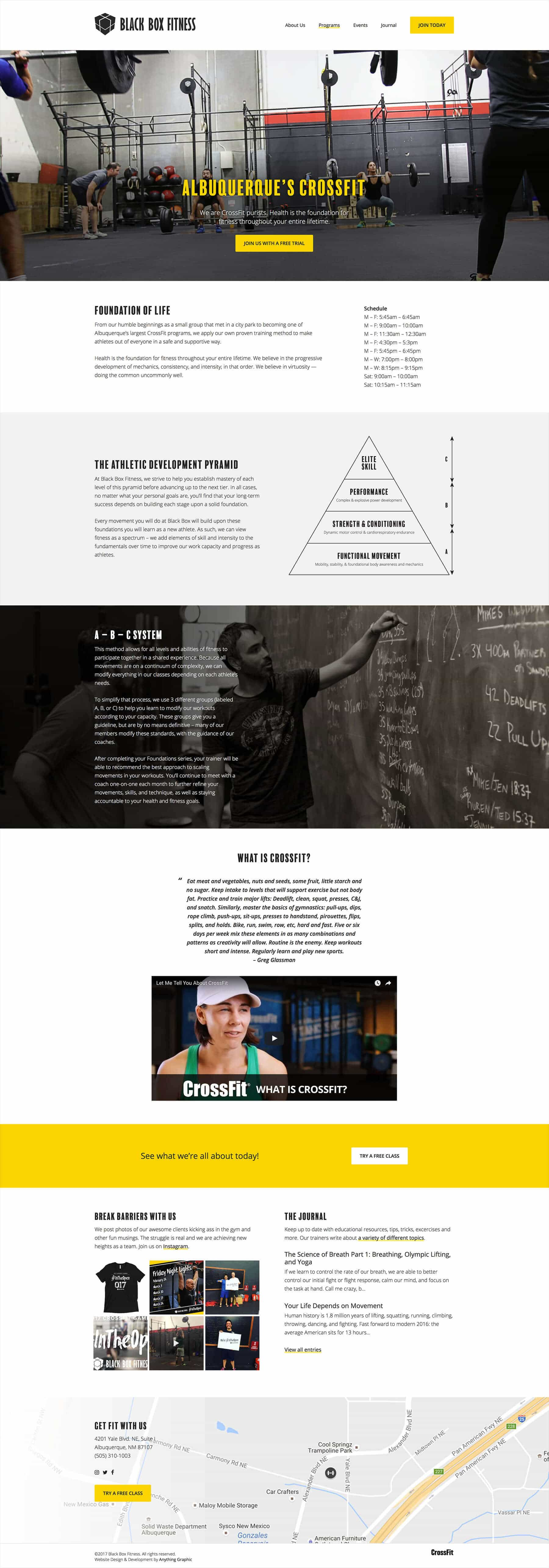 Black Box Fitness Home Page