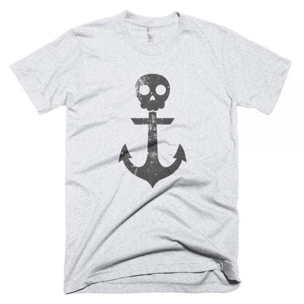 Anchor Skull T-Shirt (Ash Grey)