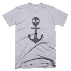 Anchor Skull T-Shirt (Heather Grey)