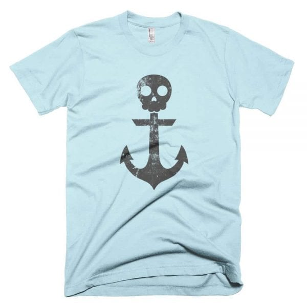 Anchor Skull T-Shirt (Light Blue)