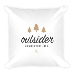 Outsider: Discover Your Trail – Square Pillow