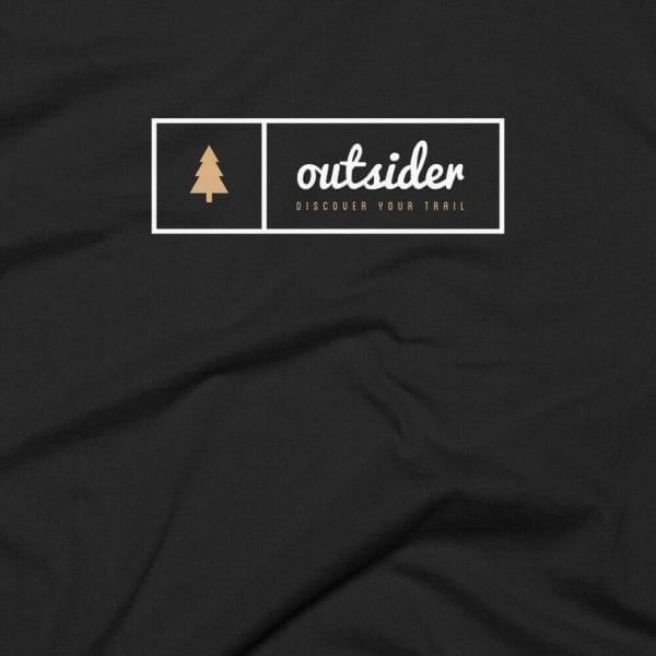 Outsider: Discover Your Trail T-shirt (White) Closeup