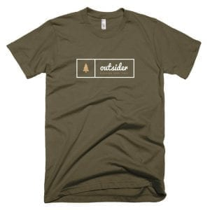 Outsider: Discover Your Trail T-shirt (White) - Army