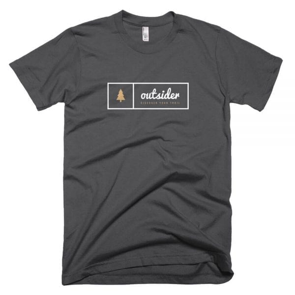 Outsider: Discover Your Trail T-shirt (White) - Asphalt