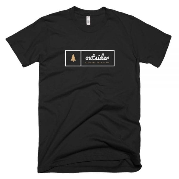 Outsider: Discover Your Trail T-shirt (White) - Black