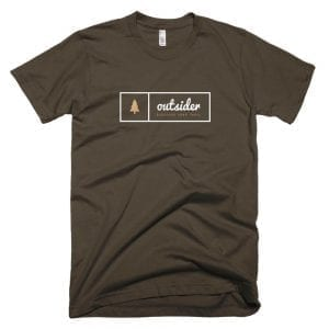 Outsider: Discover Your Trail T-shirt (White) - Brown