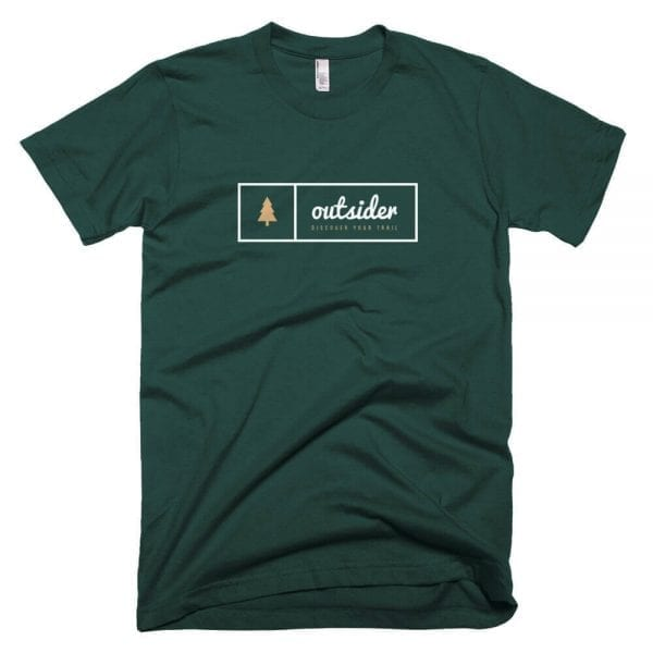 Outsider: Discover Your Trail T-shirt (White) - Forest