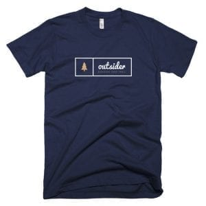 Outsider: Discover Your Trail T-shirt (White) - Navy