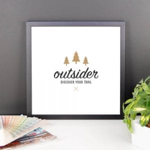 Outsider: Discover Your Trail - Wall Art 14x14