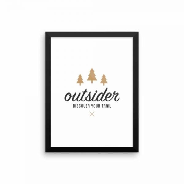 Outsider: Discover Your Trail - Wall Art 12x16