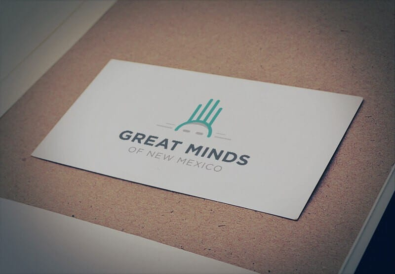 Great Minds of New Mexico Business Card Mockup