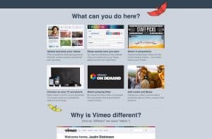 User Onboarding - Vimeo Example