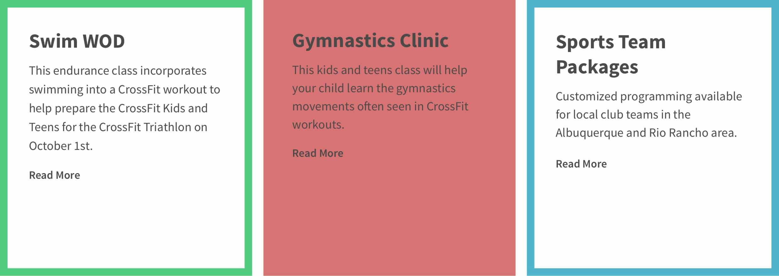 Design element used in the custom WordPress website design for Firehawks CrossFit Kids/Teens