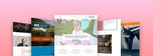 WordPress website design showcase of website designs